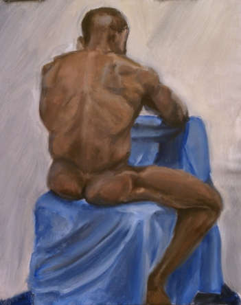 Seated Male. Oil paint on canvas. 2011.